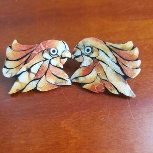 VINTAGE PARROT 🦜 COCKATIEL 🦜 COCKATOO EARRINGS